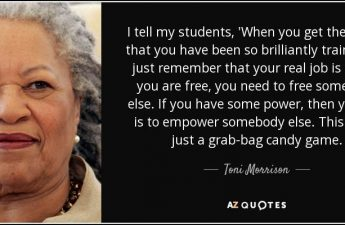 Toni Morrison Owning Privilege and Using it to Help Others Teoh Jou Yin
